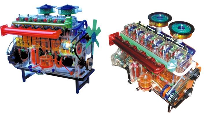 东风、解放汽车、柴油机、桑塔纳、广州本田部件透明教学模型 透明汽车教学模型,是配合大专院校,汽车驾驶培训、汽修等专业的教具之用,通过专业课程的教学和本模型演示,可清楚地了解汽车的内在部位的结构和作用,使学生很快地掌握专业知识。本系列模型采用进口有机玻璃,工程塑料、铸铝汽车部件等,用模具一次成型铸造。电机驱动、透明直观,内部结构清晰,各部件结构一目了然。  桑塔纳轿车部件模型 全透明、直观、活动演示 全套15件
